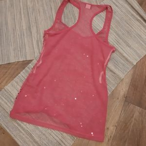 Sparkly Sequins Pink Tank